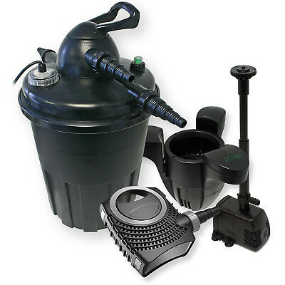 TTFilter Set Pressure Filter 15000l 24W Clarifier Pump Fountain Skimmer