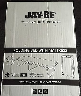 JAY-BE Value Folding Bed with Breathable Airflow Mattress and Powder Coated Pain