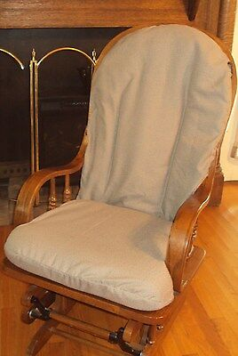 Glider Rocker Chair SlipCovers 4 UR Cushions-UpCycle-USA -Caffè Latte