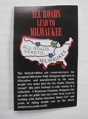 Harley Davidson All Roads Lead to Milwaukee Rally Commemorative Pin