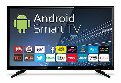"Goodmans C40ANSMT 40"" Android Smart LED TV with Wi-Fi and Freeview T2 HD 4K"