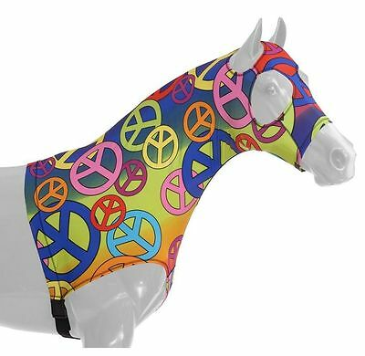 Tough-1 Neck Cover Spandex Mane Stay Hood XL Peace Signs 65-7173