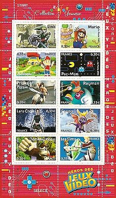 2005 France Video Games Heroes Sheet MNH