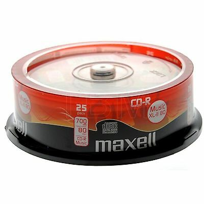 Maxell CD-R Audio Blank CDR XL-II 80 25 pack *Free P&P* Audio Music CD's XLII