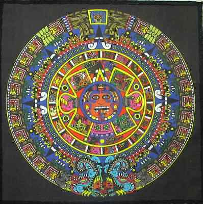 LARGE AZTEC CALENDAR - Mayan - Back Patch Sized - Printed Patch - Sew On-Jacket!