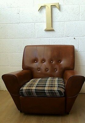 Vintage Industrial Retro 1970S Brown Arm Chair - 2 Available