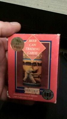 REDUCED PRICE! BEER CAN COLLECTORS OF AMERICA 100 collectible beer can cards