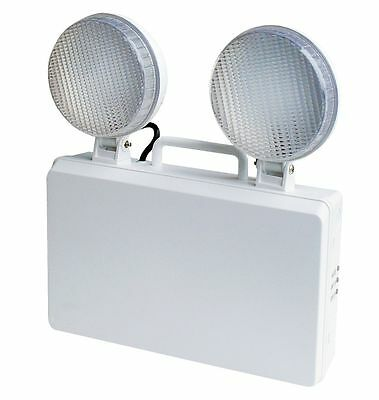 Led Non Maintained Emergency Twin Spot Bulkhead Floodlight Warehouse Factory Gym