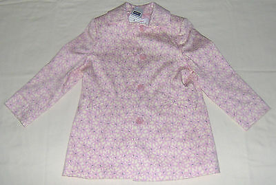 Next Girls Pink and Cream Long Cotton Jacket (Age 6 Years) - Brand New With Tags