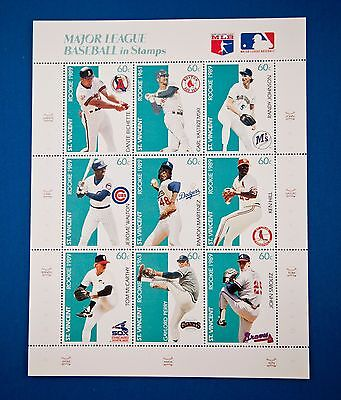 Stamps Complete 9 Stamp Sheet MLB Rookie Series Baseball St. Vincent