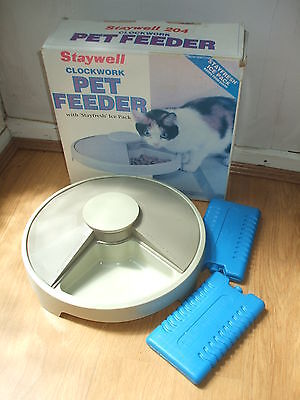 Staywell Automatic Pet Feeder Rrp£60 For Cat Small Dog Clockwork Keep Food Fresh
