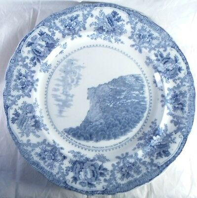 Adams Old Man of the Mountain New Hampshire Souvenir Plate England c1900