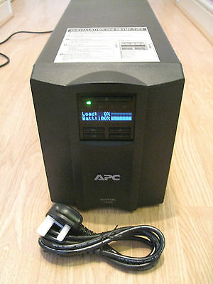 APC SMART-UPS SMT 1000i VA LCD TOWER UPS WITH NEW RBC6 BATTERY & CABLES