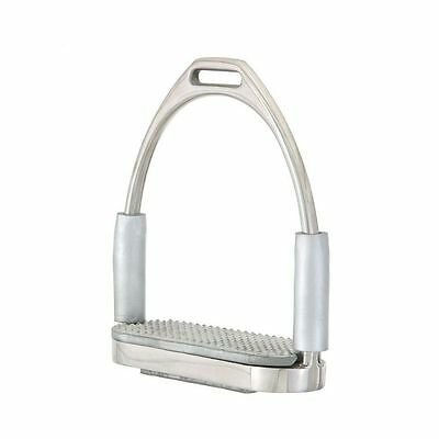 """EquiRoyal Stirrups Flexible Joint Pivot 4 1/2"""" Stainless Steel 24-3040"""