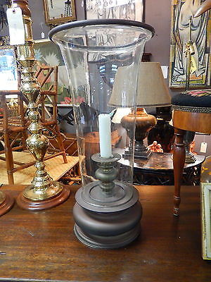 Vintage Chapman 1981 Large Scale Brass Base Hurricane Candle Stand