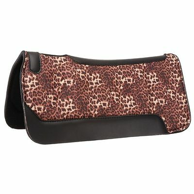 Tough-1 Saddle Pad Western Neoprene Print 31 x 32 Leopard 31-7593