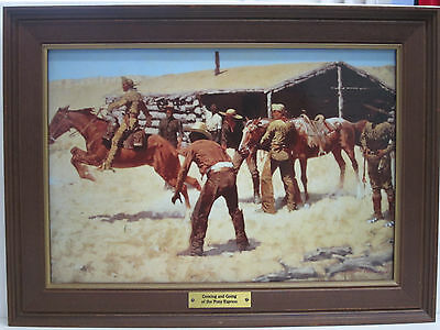 "Porzellangemälde ""Coming & Going Of The Pony Express"", Franklin Mint, 25,5x35 cm"