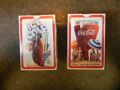 Coca Cola Playing Cards Two Decks Wrapped Never Opened