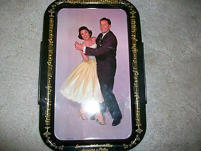 """Vintage 1957 """"Lawrence Welk and Alice Dancing a Polka""""  Lawrence Welk Show* Tray"""