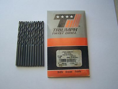 "Triumph 9/64"" Jobber Length Drill Bits 011209 (12 Pieces) USA New"