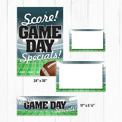 Football Sale Sign Kit, 108 Pieces: Window Signs/Posters, Pricing Signs, Banner