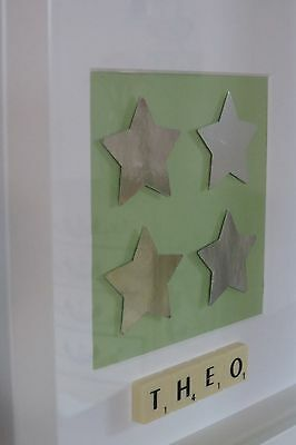 Personalised picture frame STARS /baby boy /new baby /christening /nursery /gift