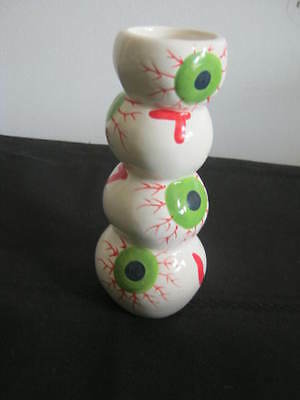 Vintage Spooky Eyeball Tower Candle Holder