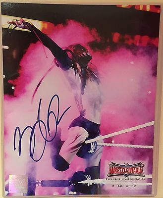 Wrestlemania 32 Exclusive Limited Edition Signed Finn Balor NXT RARE 8X10 WWE