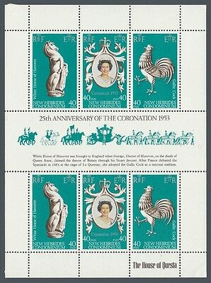 New Hebrides # 278 Souvenir Sheet - 25th Anniversary of QEII Coronation