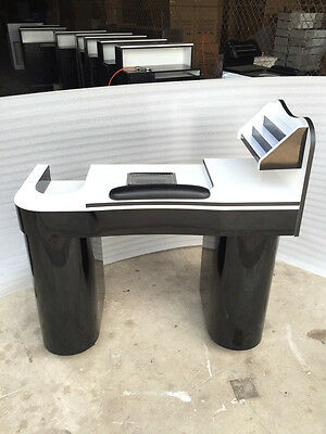 NEW MANICURE  NAILS TABLE JK WHITE  /BLACK  with attractor  low price