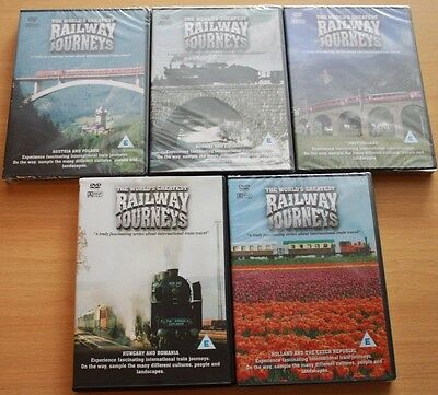 Train DVDs New in Wrappers Railway Journeys Joblot Ideal Christmas Gift