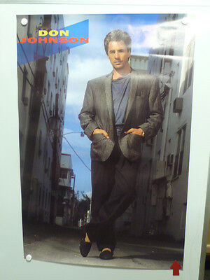 Don Johnson's Miami Vice Promotional Poster 1986