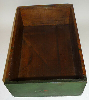 Vintage Old Antique Bakers Cocoa Advertising Wooden Drawer wood 2 planter decor