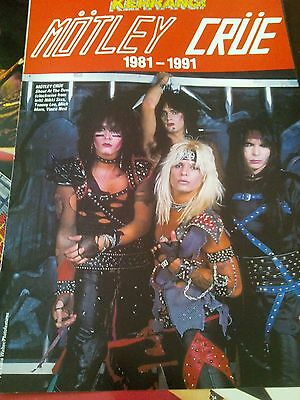 Motley Crue 1981 - 1991 Double Pages Pull Out Posters Ideal to Frame?