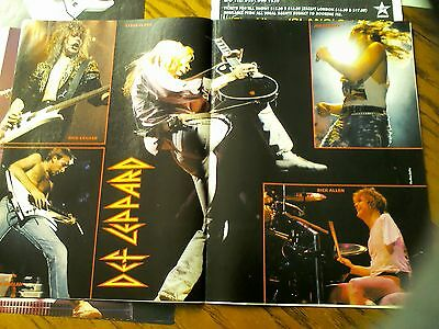 Def Leppard Double Page Poster with Article from Kerrang Magazine Steve Clark