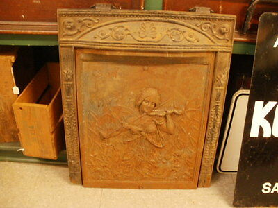 Antique Fire Place Surround With Cover-Iron-Musical-Awesome