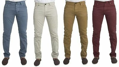 Mens Slim Fit Chino Jeans Ex Chain Store Clearance Sale All Sizes  Rrp £28