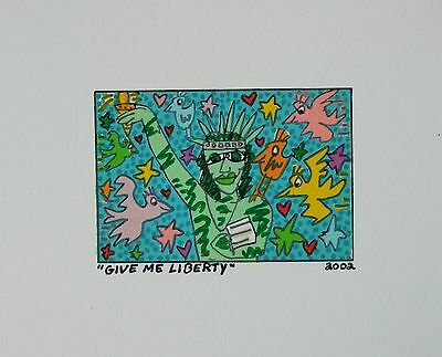 James Rizzi Give me Liberty- Farblithografie
