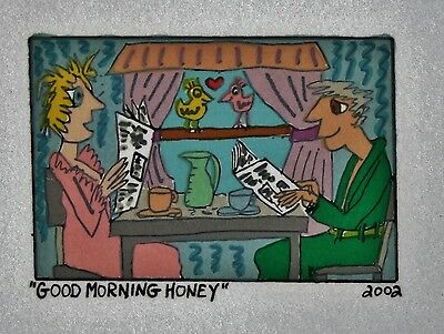 James Rizzi Good Morning Honey- Farblithografie