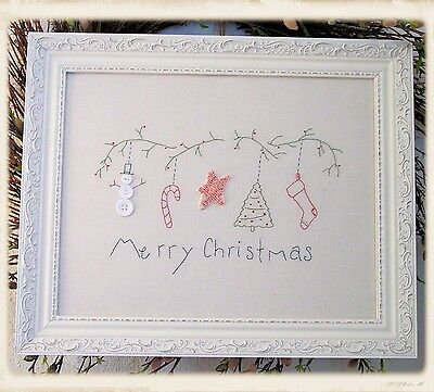 MERRY CHRISTMAS EMBROIDERY PATTERN, From Plumcute Designs NEW