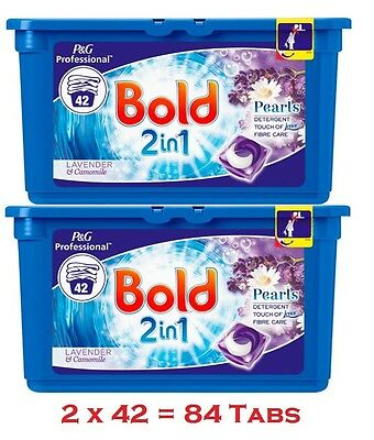 Bold 2 in 1 Washing Liquitabs Capsules Pro, 2 x 42 Twin Pack, 84 Wash, Free Del