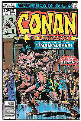 Conan the Barbarian #80 (Marvel 1977, vf 8.0) Roy Thomas & Howard Chaykin