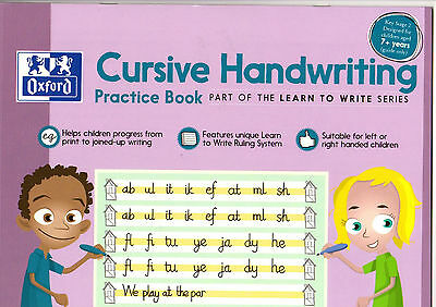 Oxford Cursive Handwriting Practice Book Learn To Write Left Right KS2 New Versi