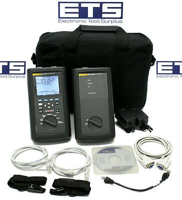 Fluke Networks DSP-2000 Cable Analyzer w/ Smart Remote CAT5 LAN Tester Certifier
