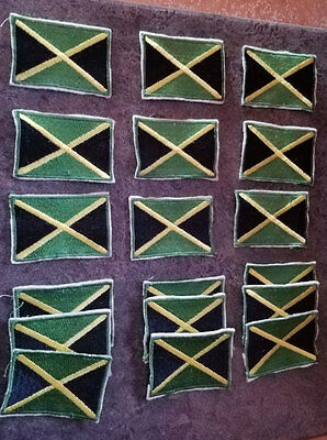 Lot of Jamaica Flag Patches 18 patches in total
