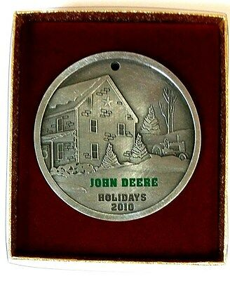 NEW John Deere 2010 Holidays Pewter Ornament by SpecCast