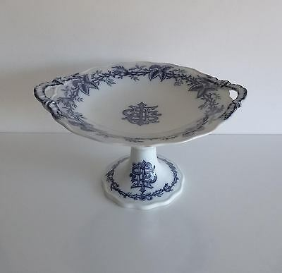 French Antique Blue/White Pedestal Dish – 1860's - Tableware