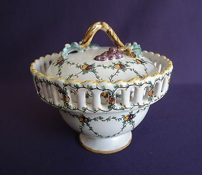 Antique French Porcelain Small Lidded Bowl – Tableware