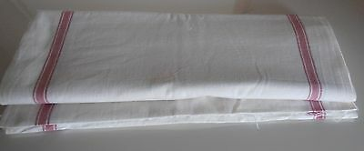 French Vintage  Roll Striped Towel Fabric 10 yds / Vintage Linens