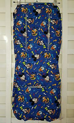 Mickey & Friends Blue Pram Liner & Strap Covers Universal fit Handmade NEW